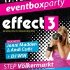 Gewinnspiel – eventbox.at Party mit Effect3 @ Step