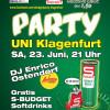 S-BUDGET Party Uni Klagenfurt | Samstag, 23. Juni 2012