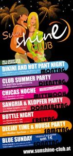 Sunshine Club Wochenprogramm Sommer 2010