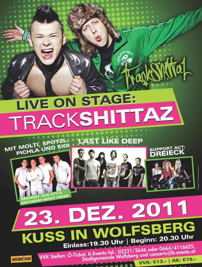 Gewinnspiel Trackshittaz & ATV Saturday Night in Wolfsberg