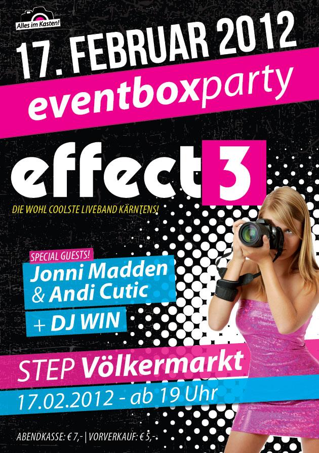 Gewinnspiel – eventbox.at Party mit Effect3 @ Step