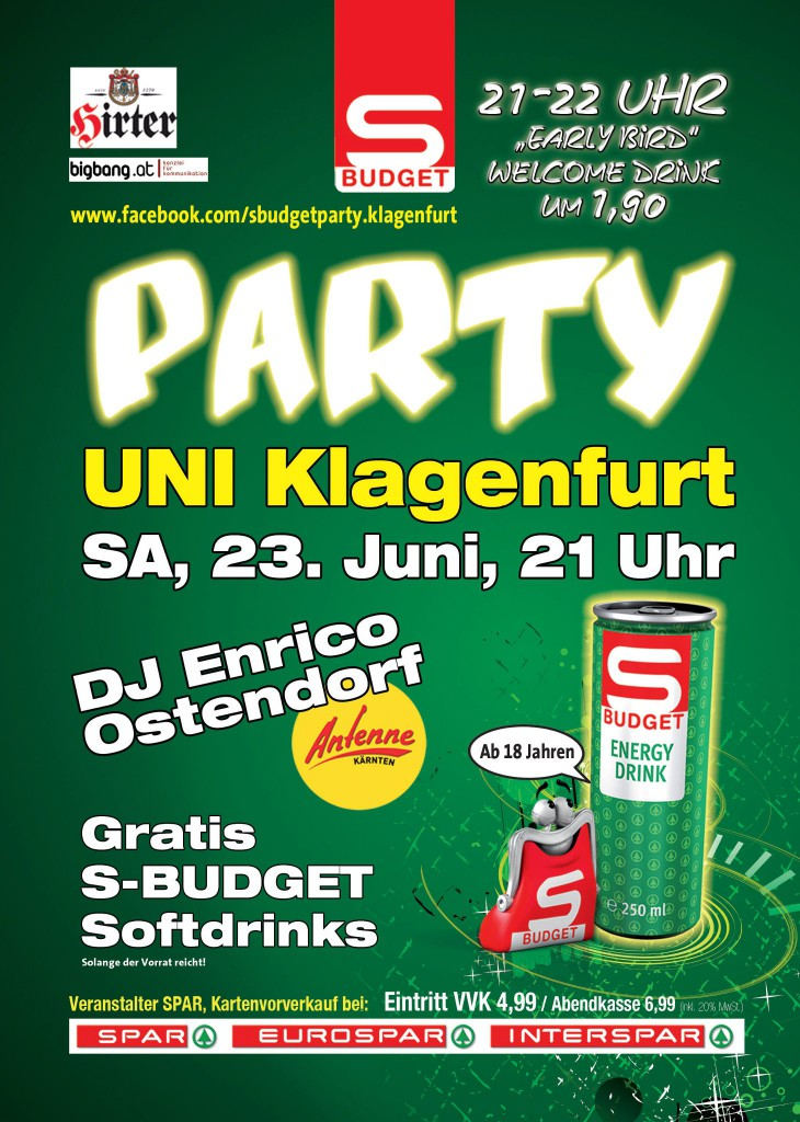 S-BUDGET Party Uni Klagenfurt