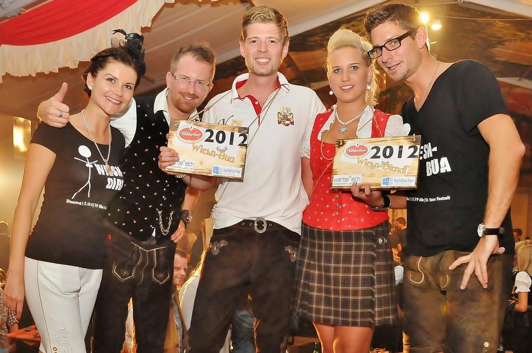 St.Veiter Wiesenmarkt 2012 – Wahl zum Wiesn-Dirndl und Wiesn-Bua