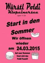 Würstel Poldi Klopeiner See startet in den Sommer 2015